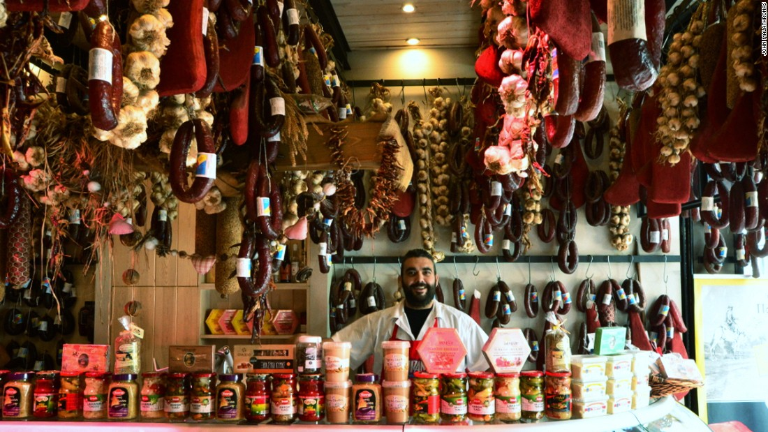 The Athens meat and vegetable market is the perfect first stop on any food tour of the Greek capital.