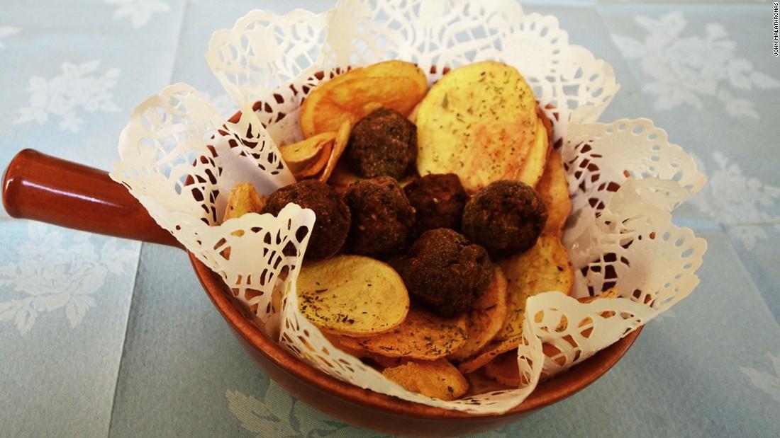 "Kioftes is a tiny takeaway restaurant below Mount Lykabettus. It takes its name from the traditional Greek meatballs it serves up using ""grandma's recipe."""