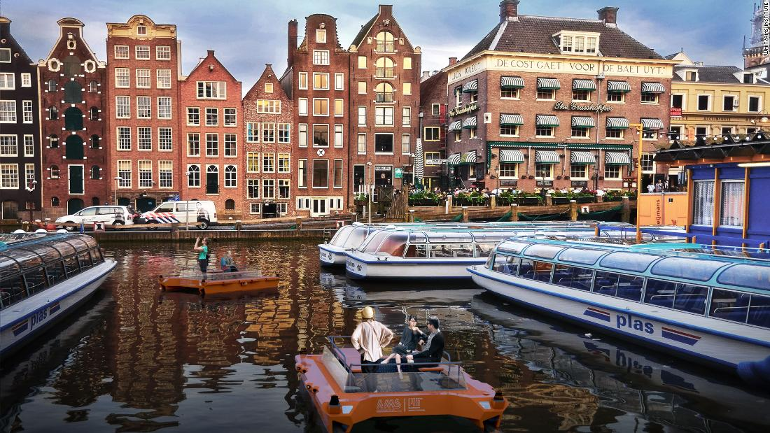 """The first self-driving boat - the """"Roboat"""" - will sail for the first time in Amsterdam in 2017."""