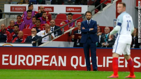 England manager Gareth Southgate watches his captain against Malta.