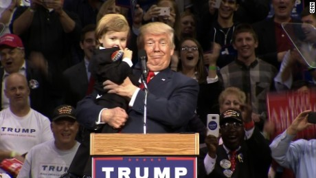Tiny Trump steals the show