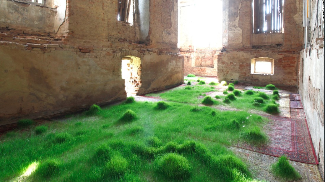 Martin Roth grew several species of grass on an assortment of valuable rugs for an installation initially staged in Austria. He is now showing this at the Korean Cultural Centre in London.