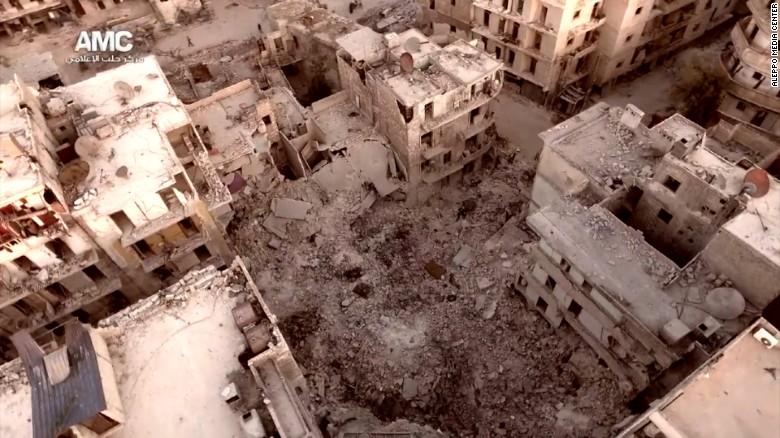 Aleppo aerial video 2