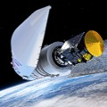 Artist's impression visualising the separation of the payload fairing during the ExoMars 2016 launch sequence