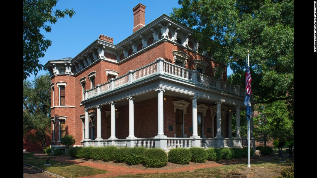 """<strong>President Benjamin Harrison Home, Indiana --</strong> The 23rd president of the United States, Harrison pioneered the """"front porch"""" campaign speech from --where else? -- his front porch at his home in Indianapolis."""