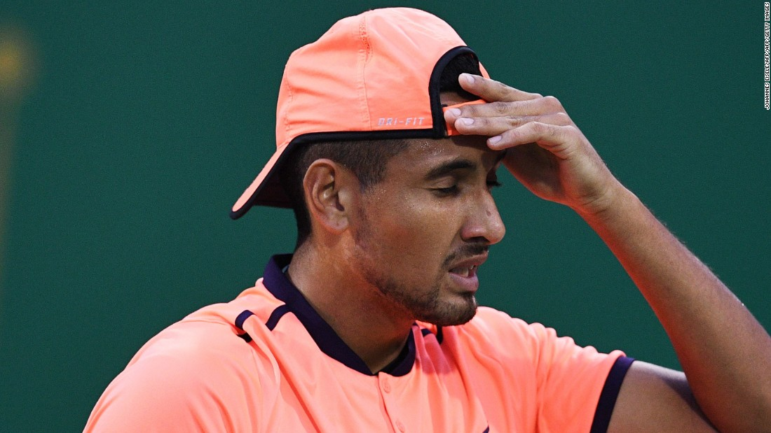 Kyrgios was banned for eight weeks and given a fine of $25,000 for not trying in a match at last week's Shanghai Masters. The suspension will be reduced if he works with a sports psychologist.