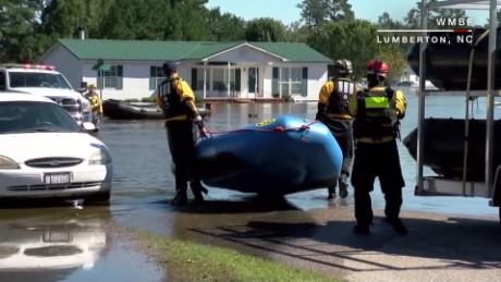 Rescue boats in North Carolina