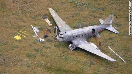 In 1947, this Douglas C-47 crashed on the Siberian tundra.