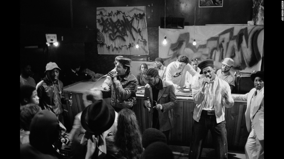 "The Cold Crush Brothers perform at the Dixie Club during the filming of the 1983 film ""Wild Style."" Conzo said ""these are still friends of mine today."""