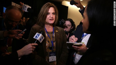 Hillary Clinton 2016 Campaign communications director Jennifer Palmieri speaks to members of the media after a presidential debate sponsored by CBS at Drake University on November 14, 2015 in Des Moines, Iowa. Democratic presidential candidates Sen. Bernie Sanders (I-VT), Hillary Clinton and Martin O'Malley participated in the party's second presidential debate.