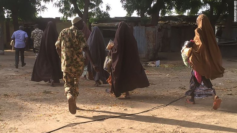 Some of the Chibok girls go free Thursday after being handed over to Nigerian authorities.