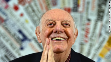 Italian actor-playwright Dario Fo, here in 2015, learned the art of storytelling from his grandfather.