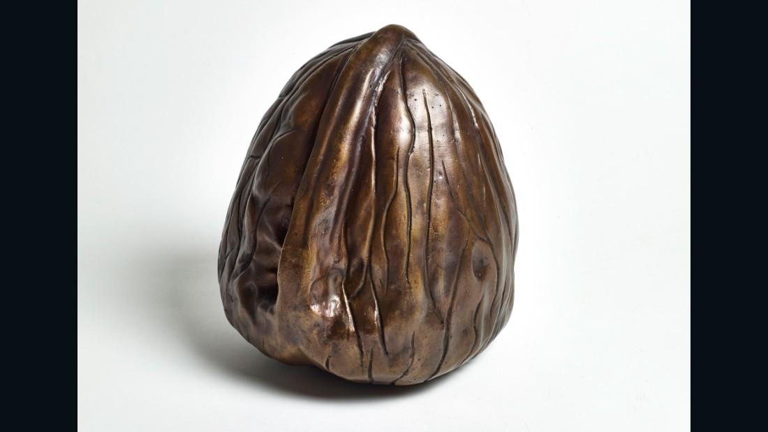 """Big Nut"" (1996), cast bronze and acrylic paint."