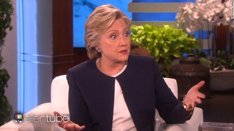 Clinton worries about voter turnout on 'Ellen'
