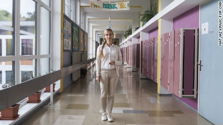 Today Mirjana Jelancic is the principal of Melania Trump's old primary school.