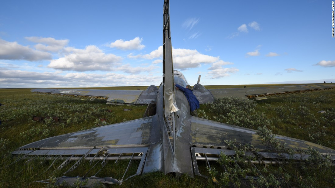 """Those who stayed behind in the plane were rescued after nearly 20 days on the tundra. They wrote a diary on the interior walls of the aircraft as they awaited help. The diary ends with: """"We have been saved!"""""""