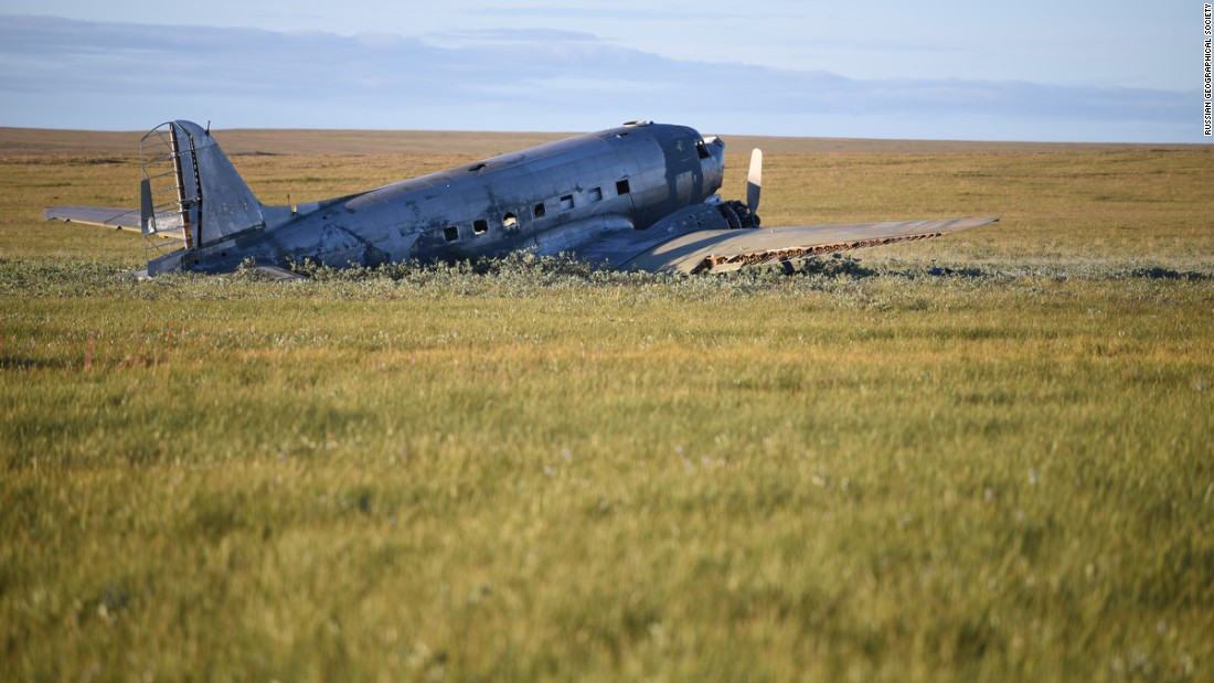 No one was hurt in the 1947 emergency landing prompted by the failure of both engines, but three crew members and some of the passengers disappeared after leaving the crash site to seek help. The pilot's body was found in 1953.
