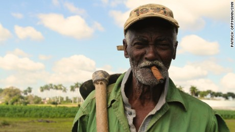 Rolando, 84, says he's worked growing tobacco for Cuba's famed cigars almost his entire life.