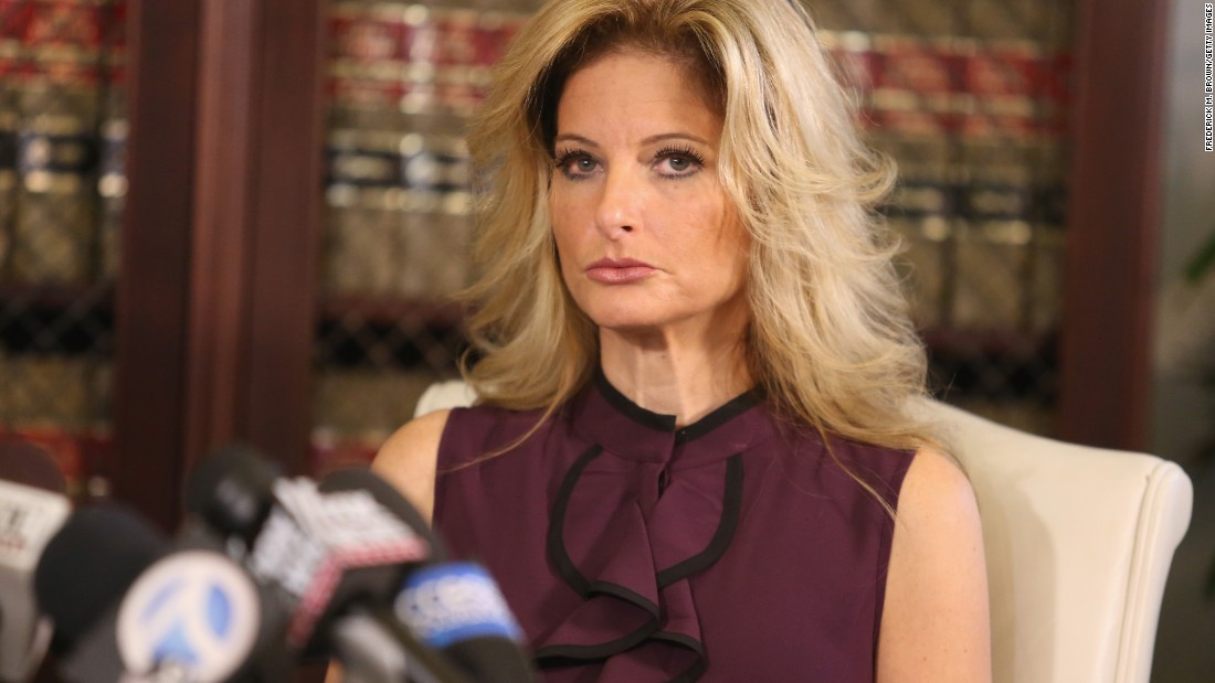 """Summer Zervos -- a former contestant on Donald Trump's reality television show """"The Apprentice"""" -- speaks at a news conference in Los Angeles on Friday, October 14. Zervos <a href=""""http://www.cnn.com/2016/10/14/politics/donald-trump-women-accuser/index.html"""" target=""""_blank"""">accused the Republican presidential nominee</a> of sexual assault, saying Trump grabbed her breast and kissed her aggressively in 2007."""