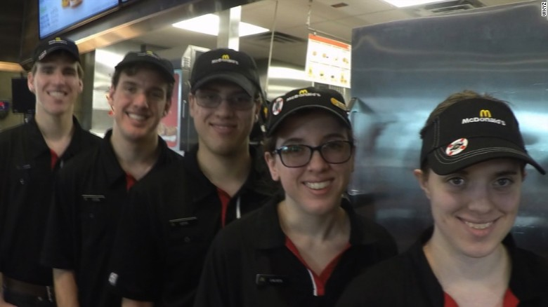 Quintuplets all work in the same McDonald's restaurant