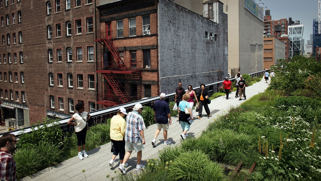 New York -- home of the increasingly popular High Line walking path -- came in fourth.