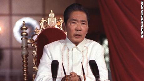 Philippines President Ferdinand Marcos in 1986.