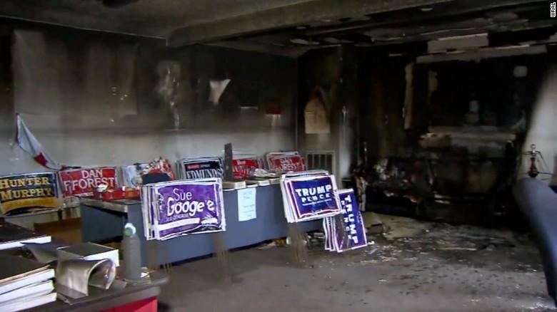 GOP field office firebombed