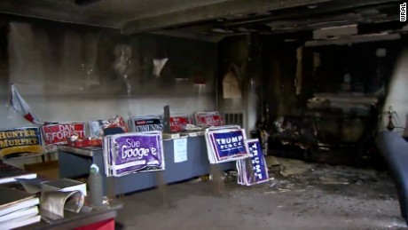 A local NC GOP office was firebombed. Is violence part of the tenor of the race now?