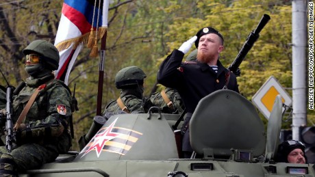 """Pro-Russian separatist commander Arsen Pavlov, known by the nickname """"Motorola,"""" was killed in the city of Donetsk, in eastern Ukraine, on Sunday."""