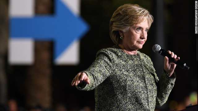 Afbeelding bij Clinton's mission: Stay positive, be presidential