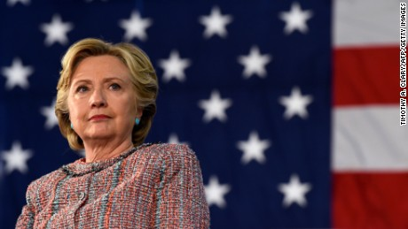Democrat Presidential nominee Hillary Clinton looks on during an event on climate change at Miami Dade College-Kendall Campus  in Miami, Florida October 11, 2016. /