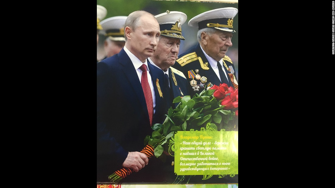 "May -- ""Our common duty is to cherish the holy memory of the fallen during the Great Patriotic War and to take care, in every possible way, of the surviving veterans."""