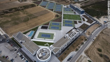 Nadal's academy is based at his sports center, which sprawls across 40,000 square meters.