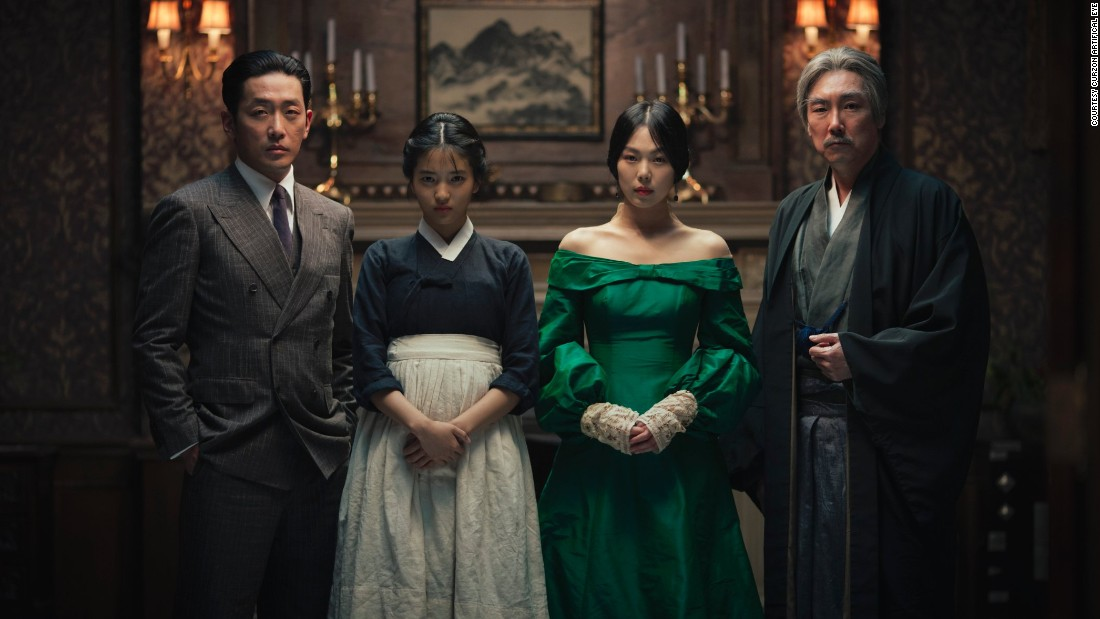 The plot revolves around handmaiden Sookee (Kim Tae-ri) and her mistress Lady Hideko (Kim Min-hee). Sookee, a young pickpocket, is sent to a country estate to secure the heiress' confidence, before pushing her towards marriage with a fellow swindler posing as a Japanese Count (Ha Jung-woo). All the while Uncle Kouzuki (Cho Jin-woong), a perverted old man, holds sway over his melancholy niece.