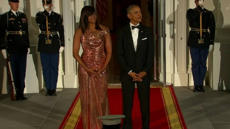 Obamas host Italian PM at their final state dinner