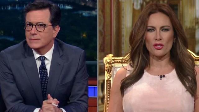 Afbeelding bij Colbert gets in on the Melania Trump interviews