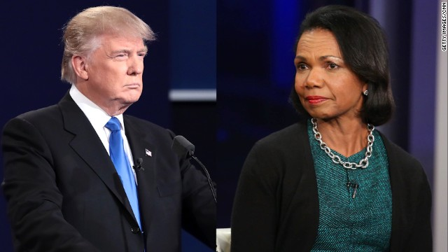 Afbeelding bij Trump in 2006: I wish Condi Rice was a 'bitch' when negotiating