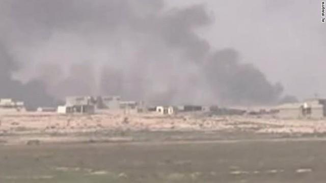 Afbeelding bij Kurdish Peshmerga forces push toward Mosul
