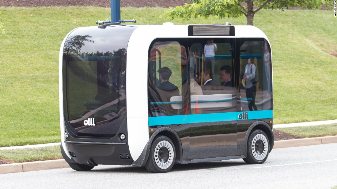 This talking, electric, self-driving bus is coming to a city near you