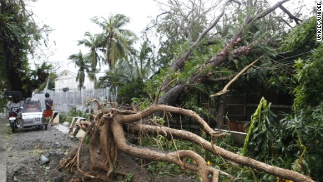 Typhoon Sarika has caused widespread damage across the Philippines after striking Sunday.
