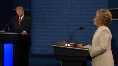 news drop trump clinton spar over microphone during debate