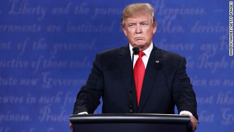 LAS VEGAS, NV - OCTOBER 19:  Republican presidential nominee Donald Trump listens as Democratic presidential nominee former Secretary of State Hillary Clinton speaks during the third U.S. presidential debate at the Thomas & Mack Center on October 19, 2016 in Las Vegas, Nevada. Tonight is the final debate ahead of Election Day on November 8.  (Photo by Win McNamee/Getty Images)