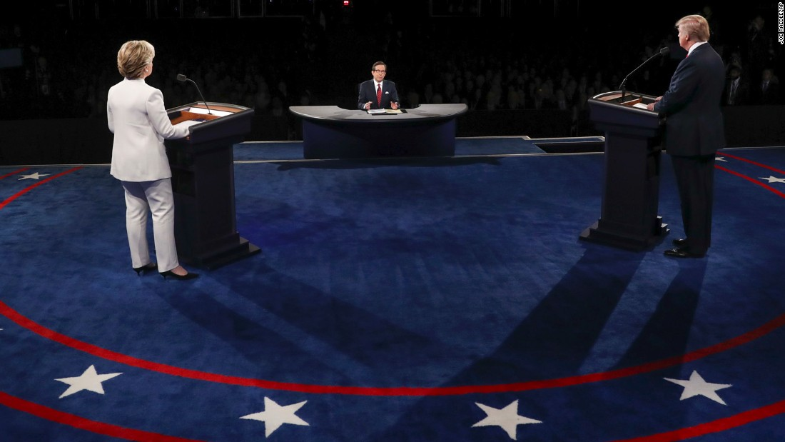 """Fox News Sunday"" host Chris Wallace was the moderator for the debate."