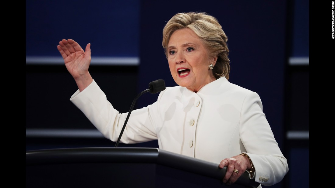 "According to MJ Lee, CNN national politics reporter, Clinton's <a href=""http://www.cnn.com/2016/10/19/politics/presidential-debate-what-to-watch/index.html"" target=""_blank"">major challenge entering the debate</a> was not so different from the challenge she's confronted over the past few months: presenting the country with a positive vision for her presidency that is detached from her argument against Trump."