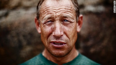 Manolo, 56. After half a lifetime working as a fisherman in the North Sea weak demand forced him to devote himself to shellfishing in his native Galicia.