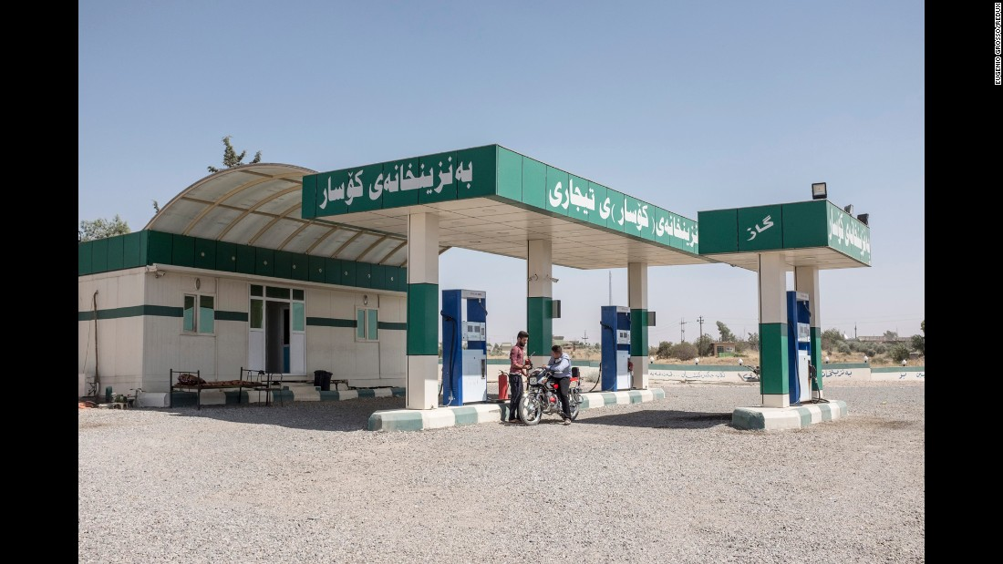 """""""When I first noticed that there were so many petrol stations concentrated in the same area, I immediately thought that that could be a good way to talk about Iraq,"""" Grosso said. """"Oil is the main resource of the country and of the region in general. And it's a curse as well. All the wars and conflicts in that part of the world have the same aim -- to control that richness."""""""