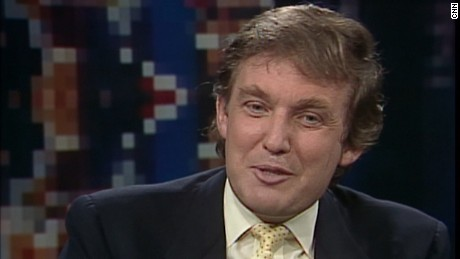 Donald Trump on CNN at the 1988 Republican National Convention in New Orleans, Louisiana.