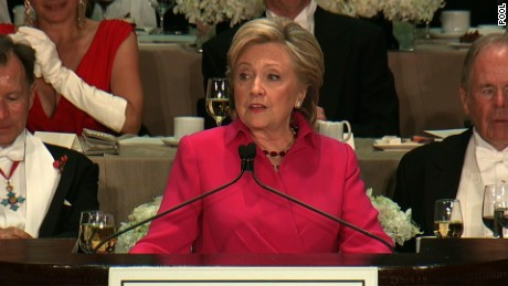 Image result for Pictures of Hillary Clinton  at Al Smith dinner