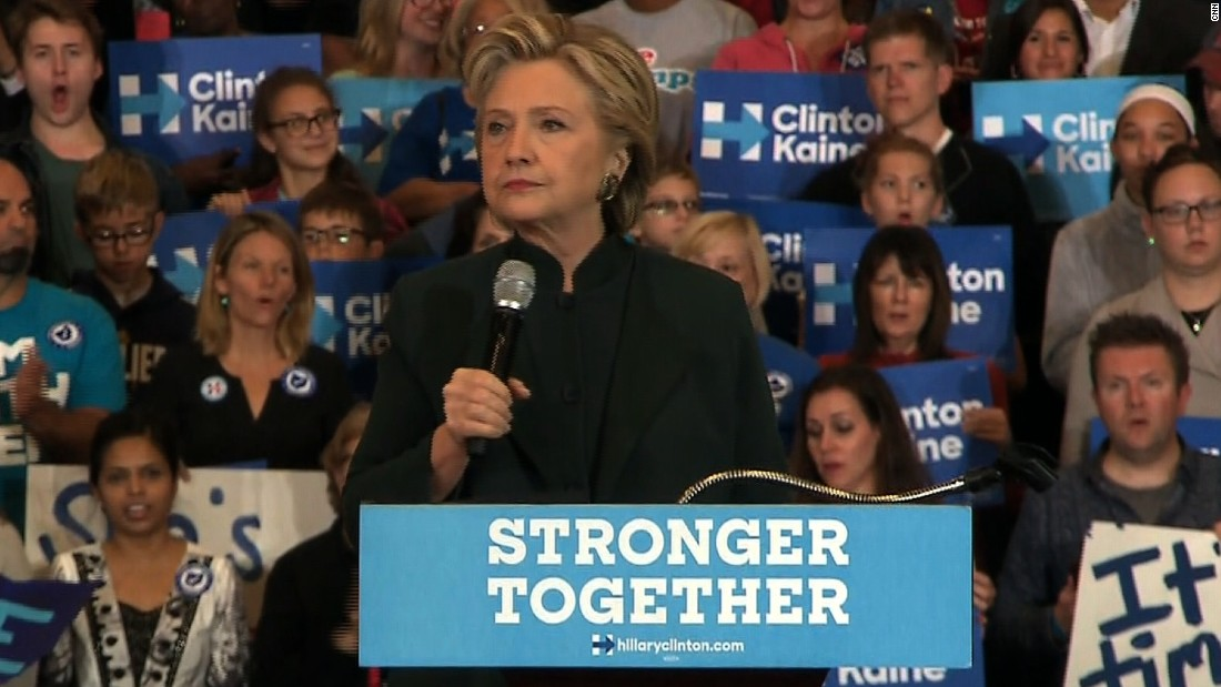 image of Hillary Clinton: Trump is threatening our democracy