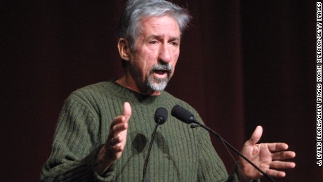 """401095 07: Former U.S. Senator Tom Hayden (D-CA) speaks at a political conference called, """"Our democracy after 9/11: can we save it?"""" February 17, 2002 in Los Angeles, CA. The conference focused on the alleged lack of democracy in the U.S. after the terrorist attacks. (Photo by J. Emilio Flores/Getty Images)"""